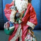 "Vintage 10 1/2"" SANTA Statue RESIN Beautiful!"
