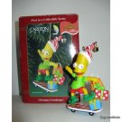 CHRISTMAS COWABUNGA! Bart Simpson by Carlton Cards Ornament in Box Matt Groening