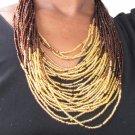 Tan multi-string jewelry