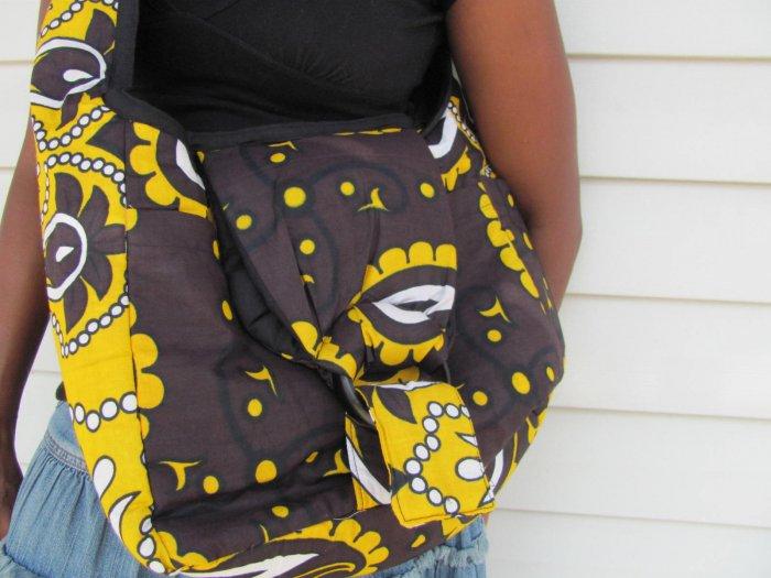 brown and yellow bag