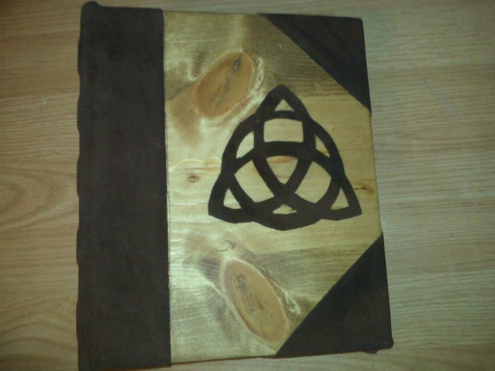 Triquetra Charmed Book of Shadows Blank BOS