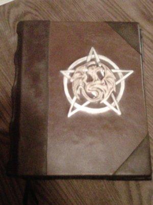 Blank Book of Shadows Pentagram and Dragon