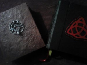 Charmed Book of Shadows & The Dark Grimoire (Both Blank)