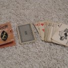 Vintage playing cards in plastic card holder