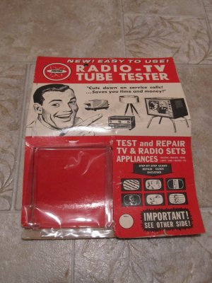 Radio TV Tube Tester advertising package Copyright 1964