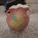 Early to mid 1900s art pottery in relief vintage vase