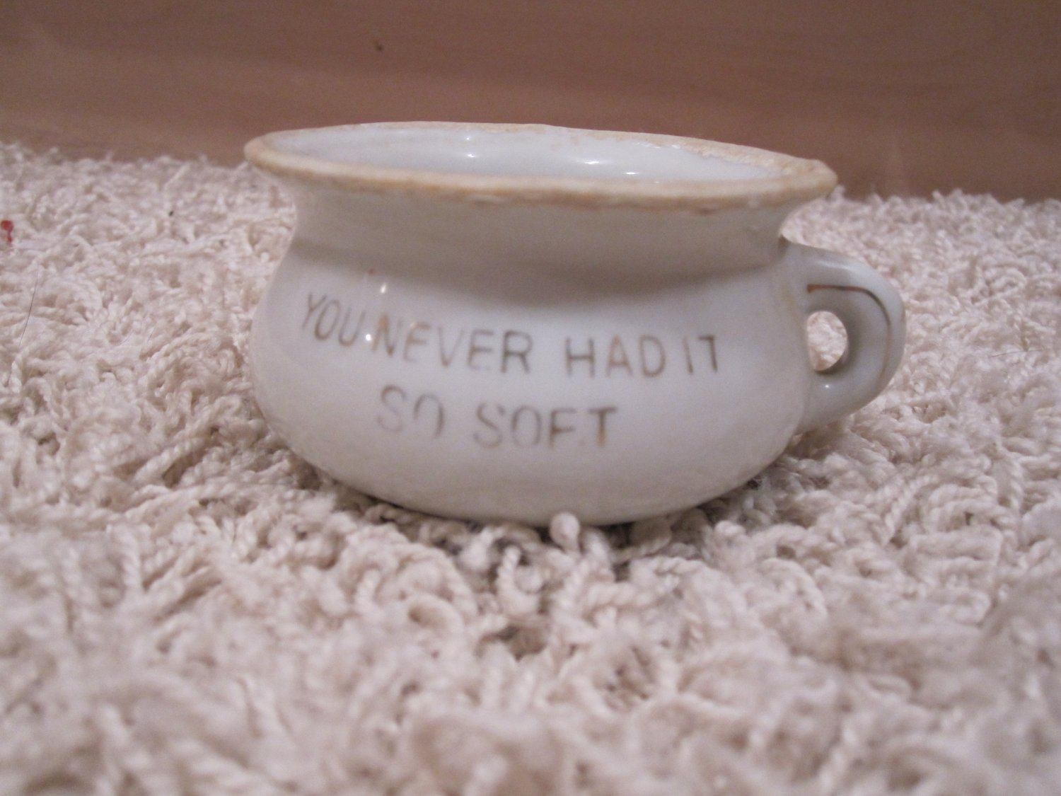 Vintage Chamber Pot Replica You Never Had It So Soft