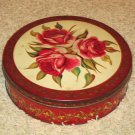 Vintage Olive Can decorative roses tin Made in Chicago