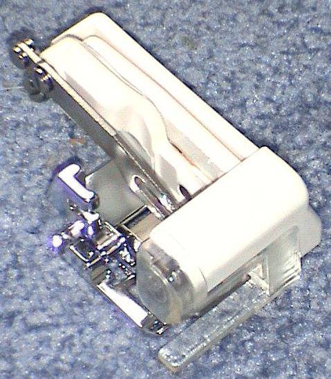 Serging cutter low shank sewing machine attachment foot