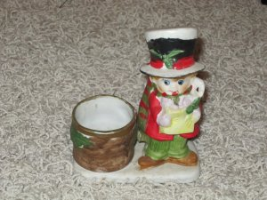 1978 Jasco Christmas Luvkins hand painted candle holder