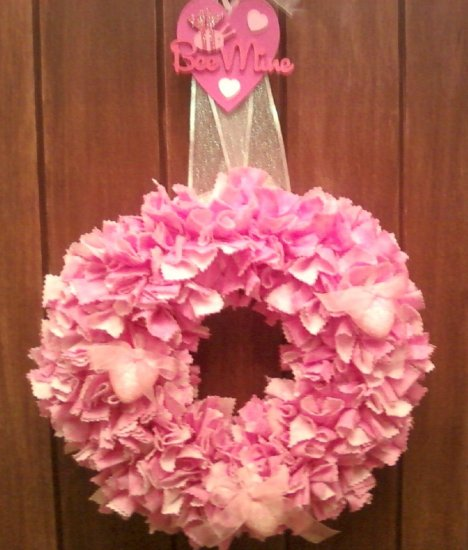 Be mine valentine rag wreath