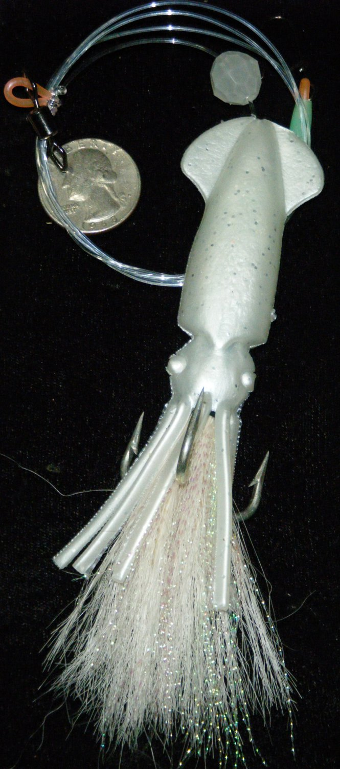 "JIGGING 4.75"" HOOKED SQUID TEASER JIGGING RIG"