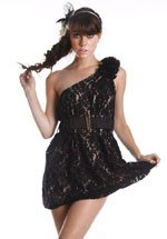 One-Shoulder Lace Dress (S,M,L)