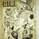 BOB POWELL ORIGINAL ART CAVE GIRL COMPLETE STORY # 14, 4.5 VG +