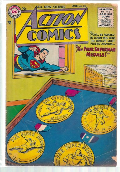 ACTION COMICS # 207, 2.0 GD