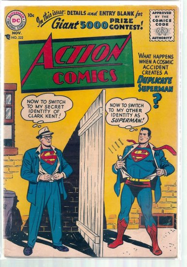 ACTION COMICS # 222, 4.0 VG