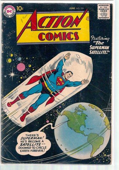 ACTION COMICS # 229, 4.0 VG