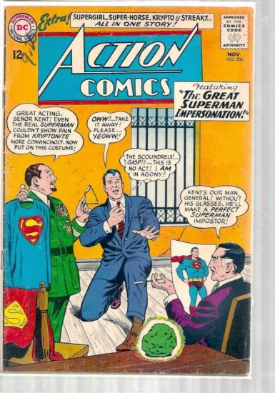 ACTION COMICS # 306, 2.5 GD +
