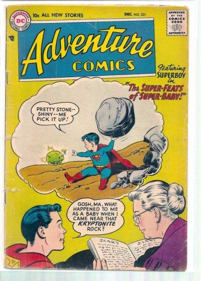 ADVENTURE COMICS # 231, 2.0 GD