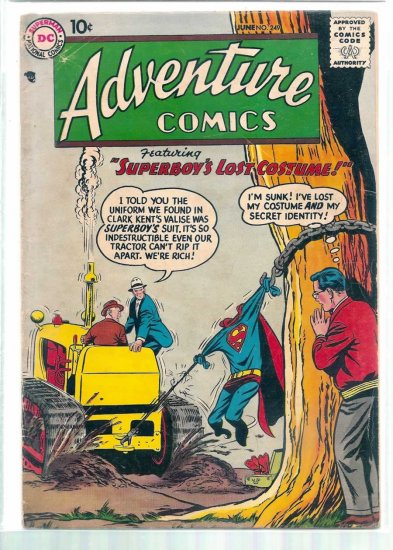 ADVENTURE COMICS # 249, 3.0 GD/VG