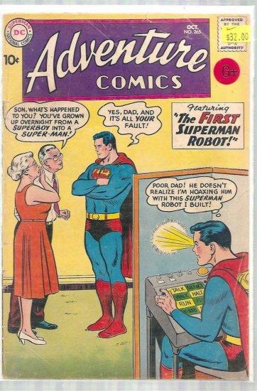 ADVENTURE COMICS # 265, 2.5 GD +
