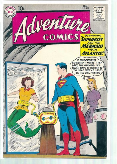 ADVENTURE COMICS # 280, 4.5 VG +