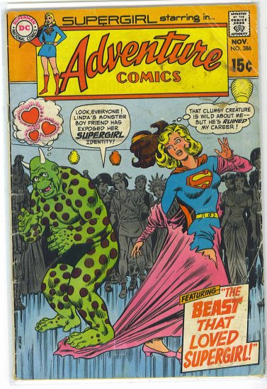 Adventure Comics # 386, 2.5 GD +