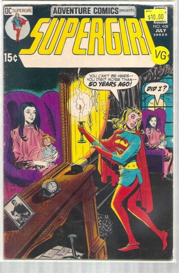 ADVENTURE COMICS # 408, 4.5 VG +