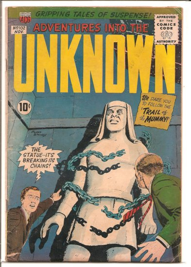 ADVENTURES INTO THE UNKNOWN # 102, 2.5 GD +