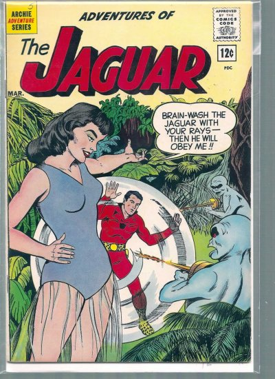ADVENTURES OF THE JAGUAR # 5, 4.5 VG +