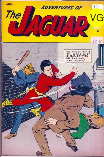 Adventures of the Jaguar # 13, 4.5 VG +