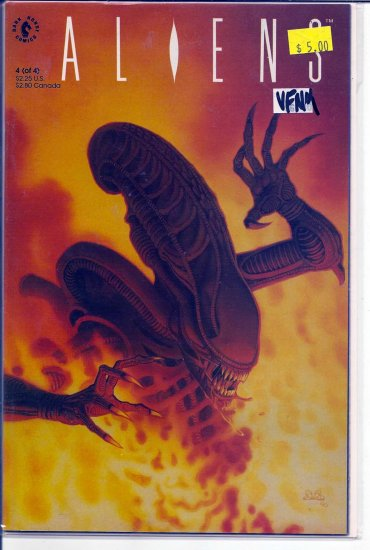 Aliens # 4, 9.0 VF/NM