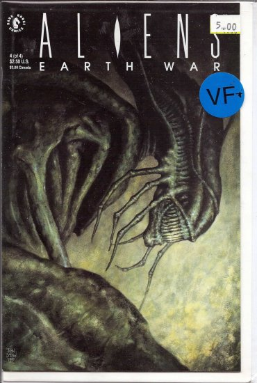 Aliens Earth War # 4, 8.5 VF +
