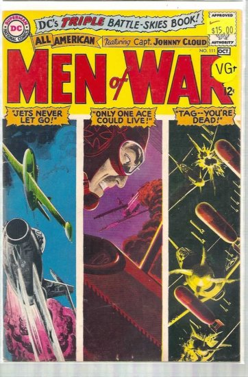 ALL AMERICAN MEN OF WAR # 111, 4.5 VG +