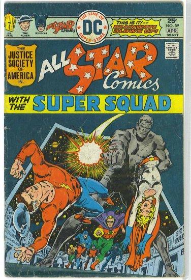All Star Comics # 59, 4.0 VG