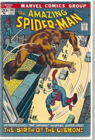 AMAZING SPIDER-MAN # 110, 4.0 VG
