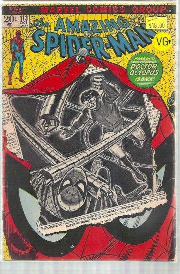AMAZING SPIDER-MAN # 113, 4.5 VG +