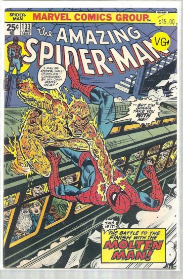 AMAZING SPIDER-MAN # 133, 4.5 VG +