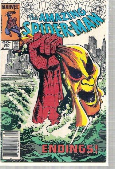 AMAZING SPIDER-MAN # 251, 4.0 VG