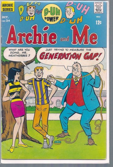 ARCHIE AND ME # 24, 4.5 VG +