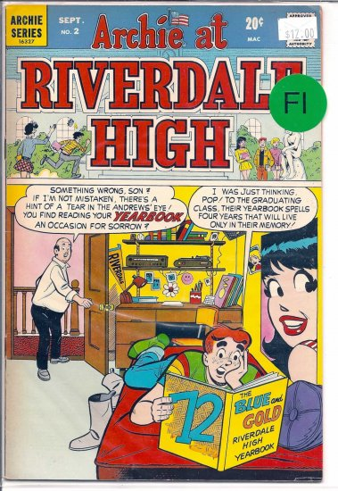 Archie At Riverdale High # 2, 6.0 FN