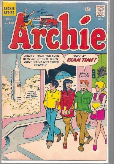 ARCHIE COMICS # 196, 4.5 VG +