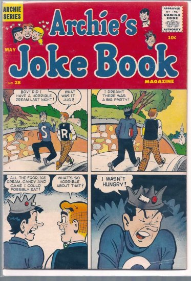 ARCHIE'S JOKE BOOK MAGAZINE # 28, 4.0 VG