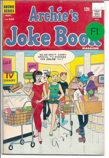 Archie's Joke Book Magazine # 106, 6.0 FN
