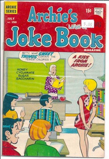 Archie's Joke Book Magazine # 150, 4.5 VG +