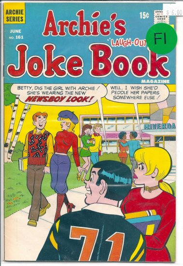 Archie's Joke Book Magazine # 161, 6.0 FN