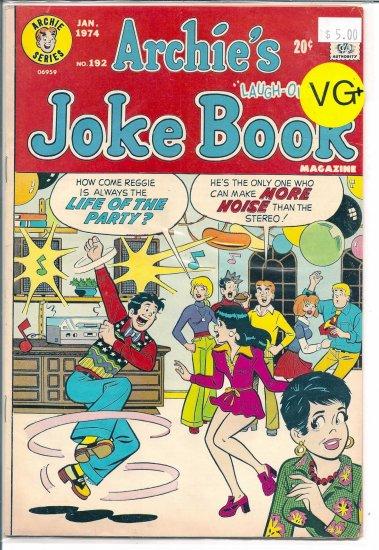 Archie's Joke Book Magazine # 192, 4.5 VG +