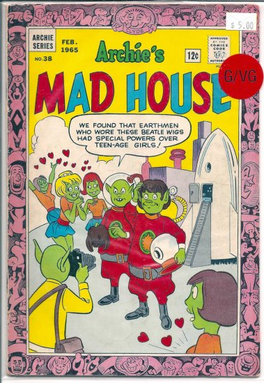 Archie's Madhouse # 38, 3.0 GD/VG