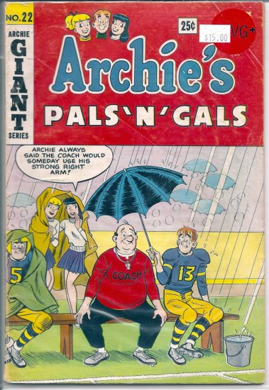 Archie's Pals 'N' Gals # 22, 4.5 VG +