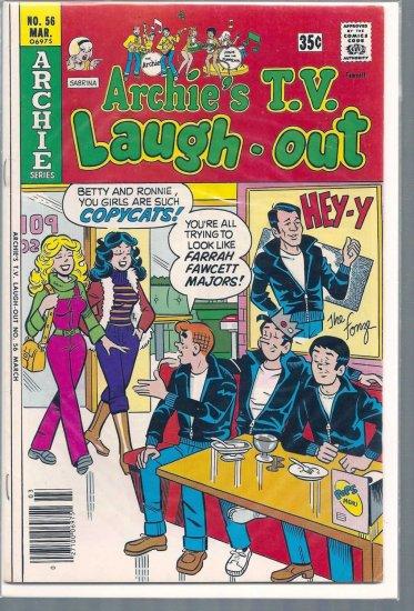 ARCHIE'S T.V. LAUGH-OUT # 56, 4.5 VG +